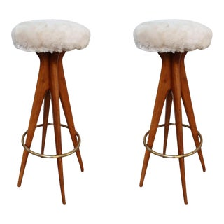 A Pair of Bar Stools, Italy 50' For Sale