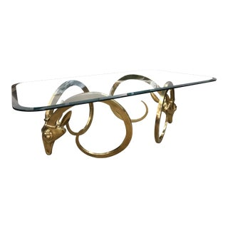 Brass Ibex Rams Head Coffee Table
