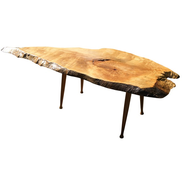 Maple Live Edge Cocktail Table - Image 1 of 6