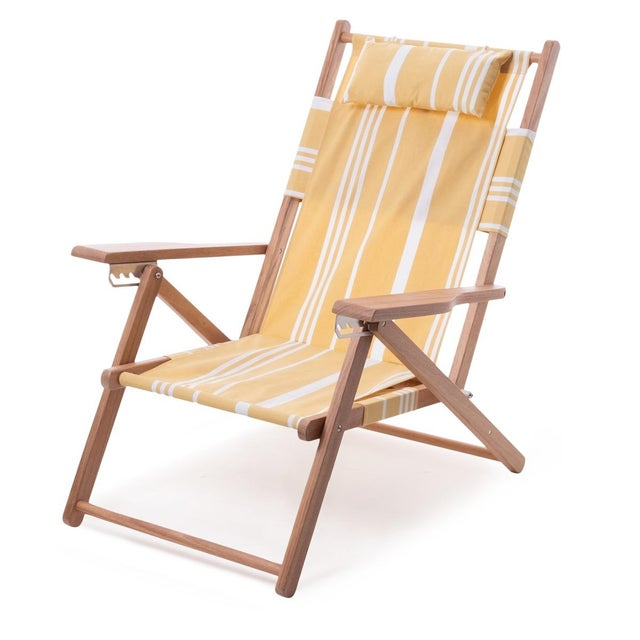 2020s Tommy Outdoor Chair - Vintage Yellow Stripe For Sale - Image 5 of 5