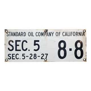 Standard Oil Company of California -Original 1920s Porcelain Sign For Sale