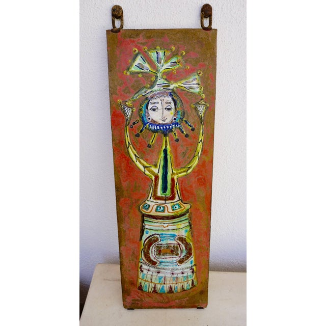 Whimsical Ceramic Tile by Bruno Capacci For Sale In Palm Springs - Image 6 of 7