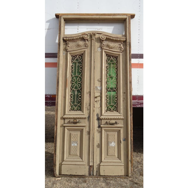 Antique Ornate South American Doors - A Pair For Sale - Image 11 of 11