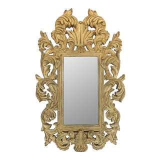19th Century French Provincial Rococo Style Wall Mirror
