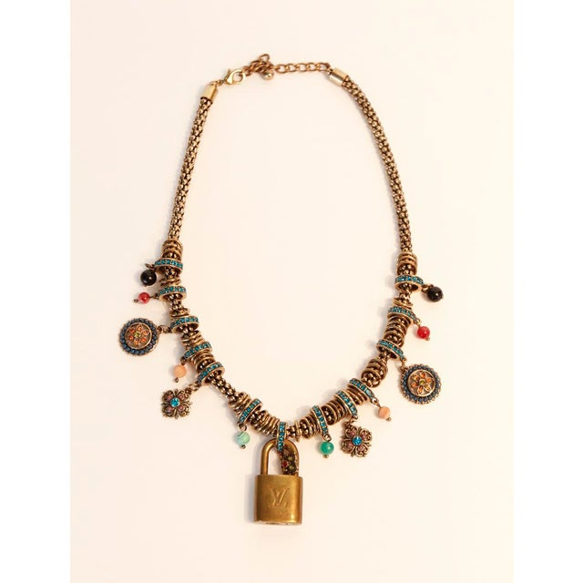 Retro Louis Vuitton padlock charm necklace Due to the unique nature of this product, all sales are final. This item is not...