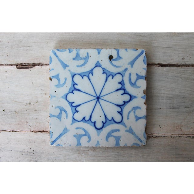 19th Century Portuguese Tin-Glazed Pottery Tile For Sale - Image 4 of 10