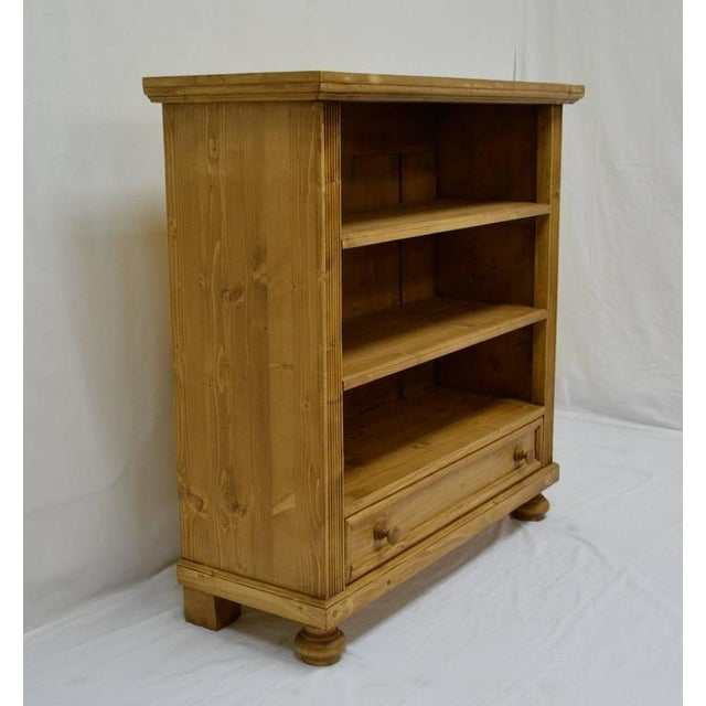 Rustic Antique Pine Bookcase With Drawer For Sale - Image 3 of 7