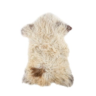 "Contemporary Long Soft Wool Sheepskin Pelt - 2'0""x3'0"""