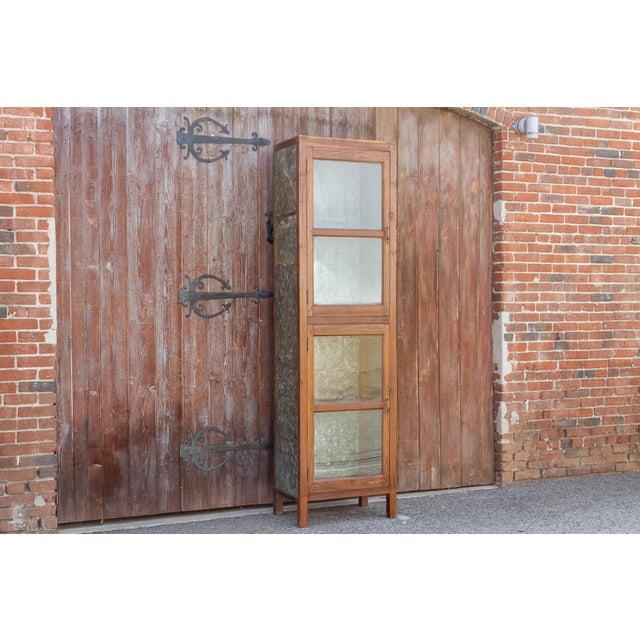 Tall 19th Century British Colonial Glass Cabinet For Sale In Los Angeles - Image 6 of 13