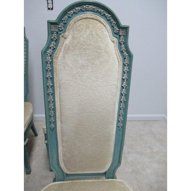 Vintage Baker Furniture French Regency Dining Side Chairs - Set of 6 For Sale - Image 10 of 11