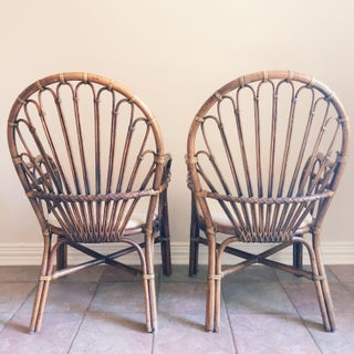 1990s Vintage Rattan Chairs- A Pair Preview