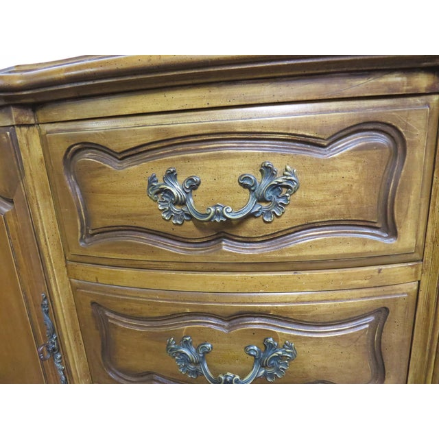 French Vanleigh Carved Fruitwood Chest of Drawers For Sale - Image 10 of 11