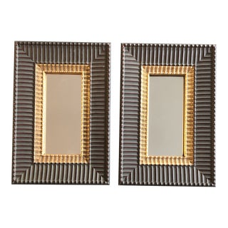 Gallery Wall Collection 2 Vintage Ornate Decorative Mirrors 12 X 18 -A Pair 1970's For Sale