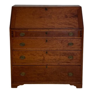 Federal Period Slant Front Desk, American Circa Early 19th Century For Sale