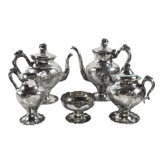 Silver-Plate Tea Set For Sale