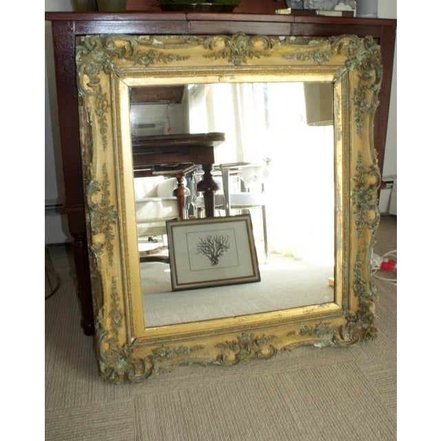 Traditional 1800s Antique Gold Mirror For Sale - Image 3 of 6