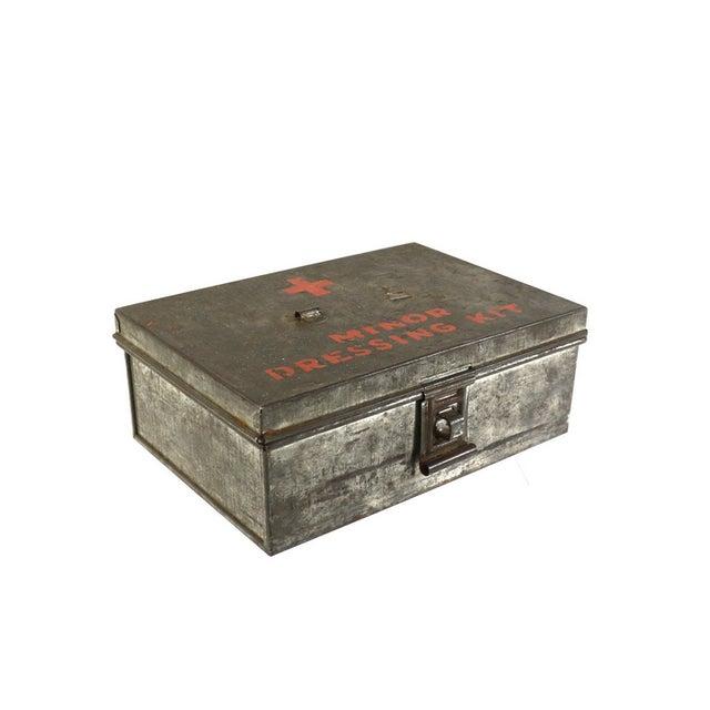 1940s WWII Vintage Metal Storage Box - Image 1 of 5