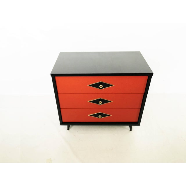 Black Stunning Pair of Neoclassical Lacquered Chests or Commodes For Sale - Image 8 of 10