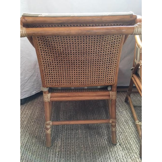 Vintage McGuire Rattan Accent Chairs - A Pair For Sale - Image 5 of 8