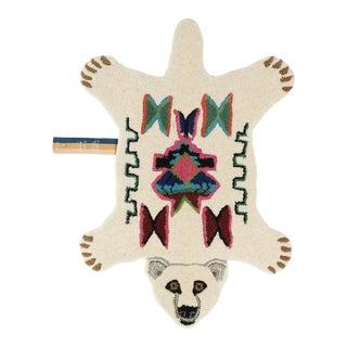 Doing Goods Kasbah Polar Bear Rug Small For Sale