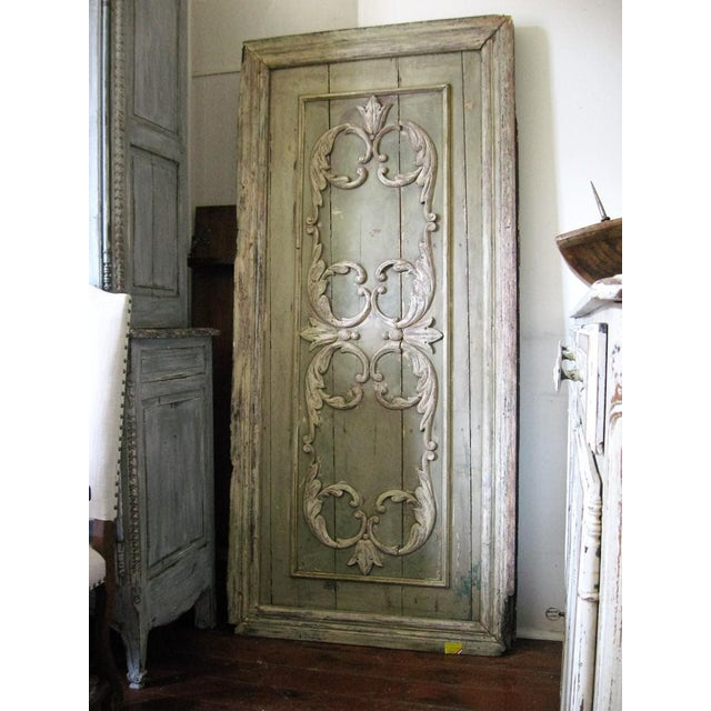 Late 18th Century 18th Century Louis XVI Painted Panel Door For Sale - Image 5 of 12