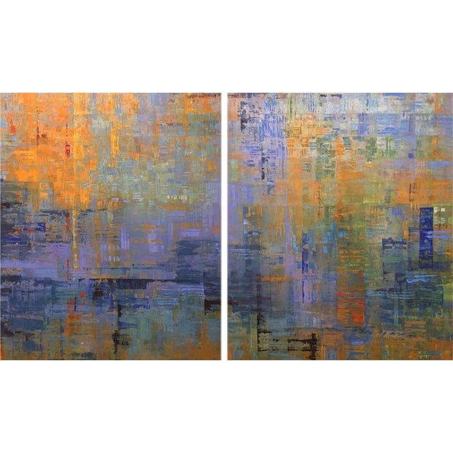Ned Martin, Nocturne (Diptych), 2018 For Sale