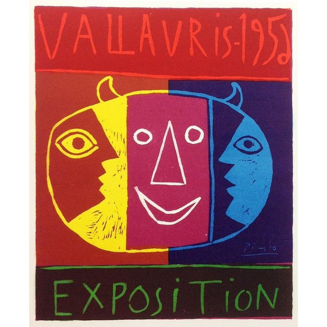 """1959 """"Exposition Vallauris 1952"""" Pablo Picasso Vallauris Exposition Poster For Sale"""