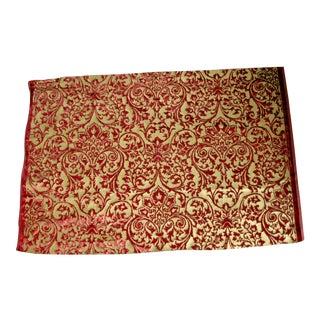 Gold Hand Printed Silk Italian Ardecora Velvet For Sale