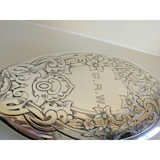 Gorham Sterling Silver Monogrammed Hairbrush - Image 5 of 8
