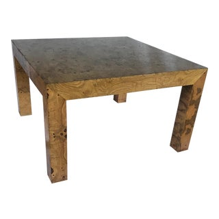 1970s Mid Century Modern Burl Wood Coffee Table For Sale
