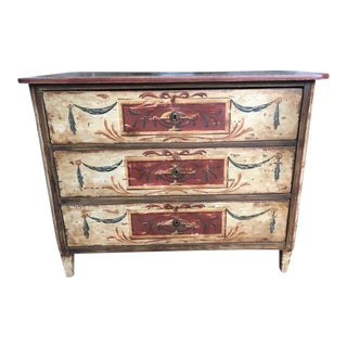 19th Century Italian Florentine Hand Painted Chest For Sale