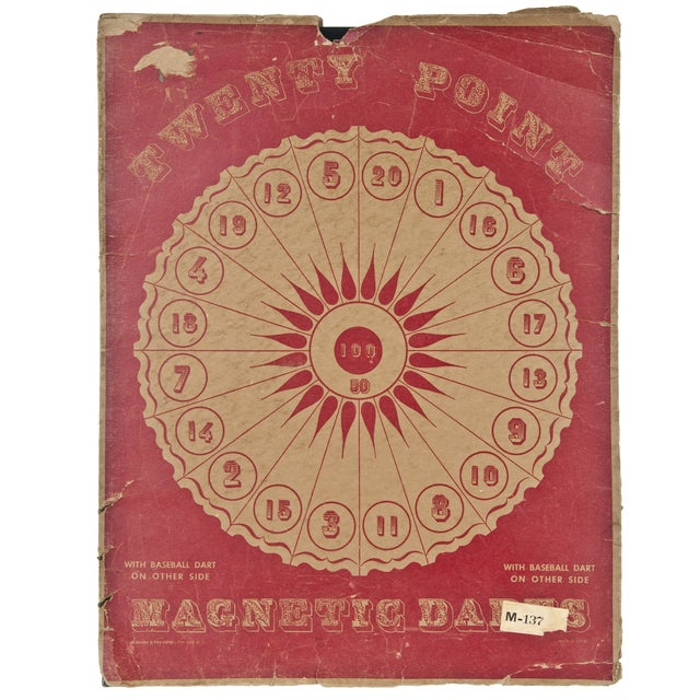 Vintage Two-Sided Metal Dart Board - Image 6 of 6
