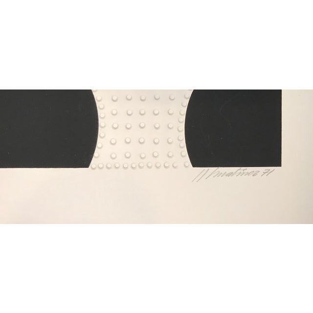 Abstract 1971 Juan Martinez Composition #1 Hand Signed Silkscreen Print For Sale - Image 3 of 7