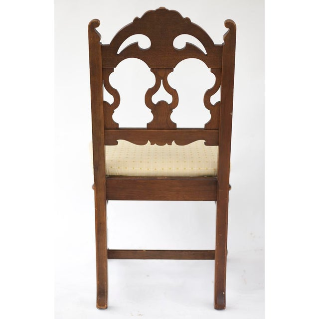 Vintage Wooden Dining Room Chairs - Set of 4 - Image 8 of 11