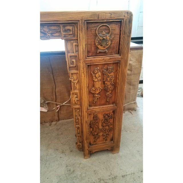 Vintage Asian Carved Desk - Image 4 of 7