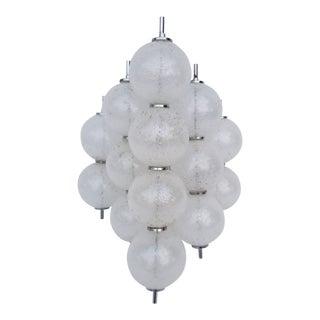 Mid-Century Modern Kalmar Glass Ball Sconce For Sale
