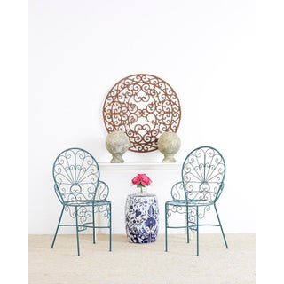 Pair of Salterini Style Iron Garden Patio Chairs Preview