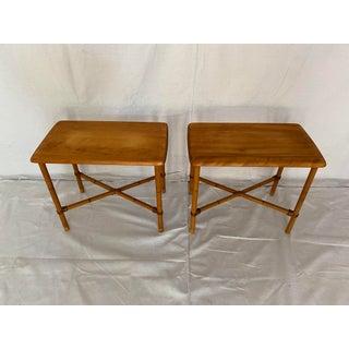 Vintage Pair of Heywood Wakefield Side Tables Preview