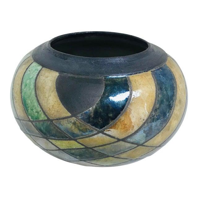 Vintage Studio Luster & Matte Pottery Table Vase For Sale