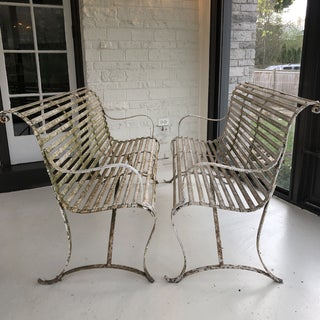 French 1920's White Garden Benches - a Pair Preview