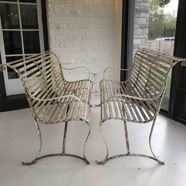 Amazing Pair of early 20th century garden benches/settees. I love the years of texture and wear but could easily be...