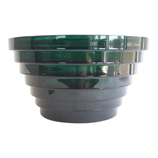 Aino Aalto for Iittala Green Glass Bowl For Sale