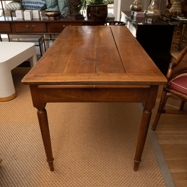 French Provincial Cherrywood Farm Table For Sale In New York - Image 6 of 11