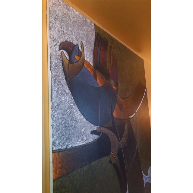 Milton Estrella-Gavidia Large Abstract Painting For Sale In Miami - Image 6 of 10
