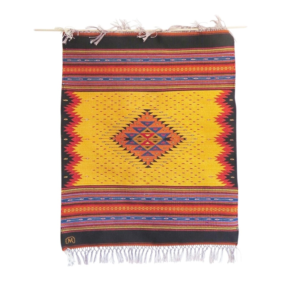 Arnulfo Mendoza Oaxaca Mexico Woven Textile Art | Chairish