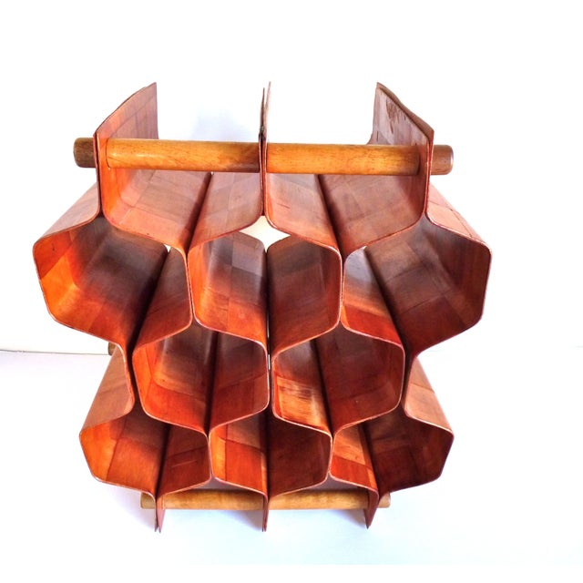 Torsten Johansson Bentwood Honeycomb Wine Rack - Image 3 of 8