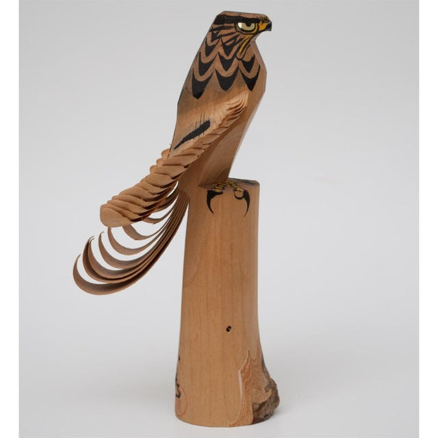 Asian 1960s Japanese Kokeshi Eagle Doll For Sale - Image 3 of 13