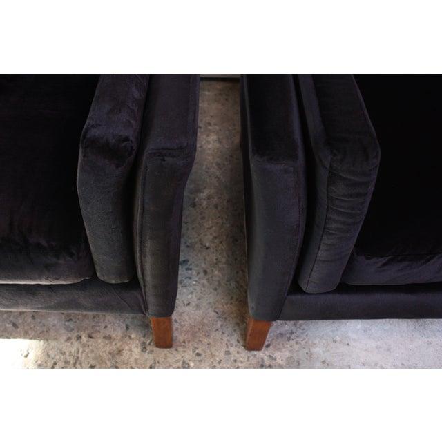 Pair of Danish Mogens Hansen Velvet Lounge Chairs - Image 7 of 10