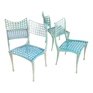 Dan Johnson Brown Jordan Sol Y Luna Patio Chairs - Set of 4 For Sale