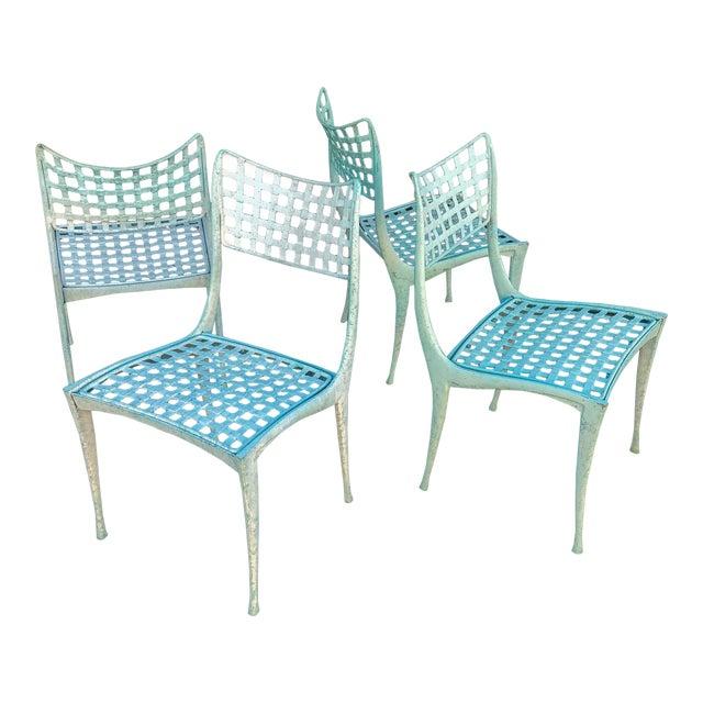 Dan Johnson Brown Jordan Sol Y Luna Patio Chairs - Set of 4 For Sale
